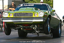 Mike Romeo Wheelies High Losing With His Camaro Sponsored By theteamanmovie.com